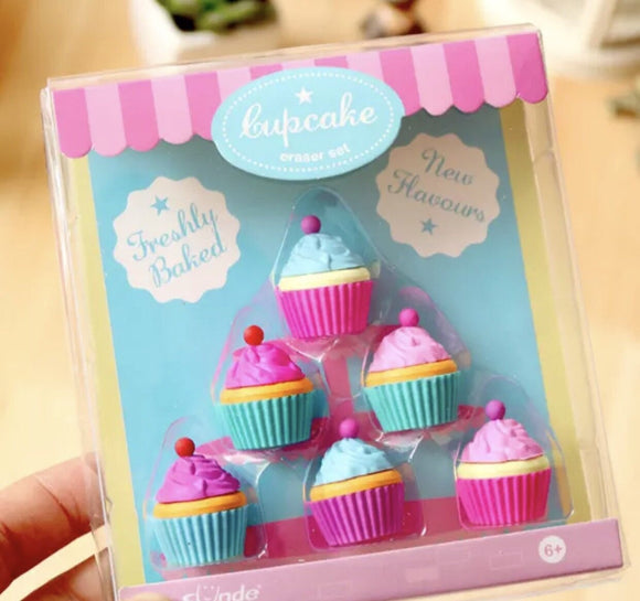 Mini cupcake erasers adorable for decor
