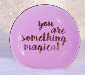 Pink magical trinket tray jewelry dish