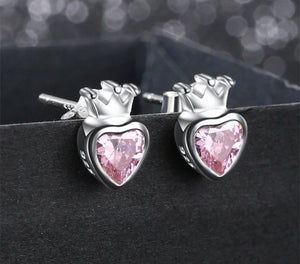 Pink princess earrings