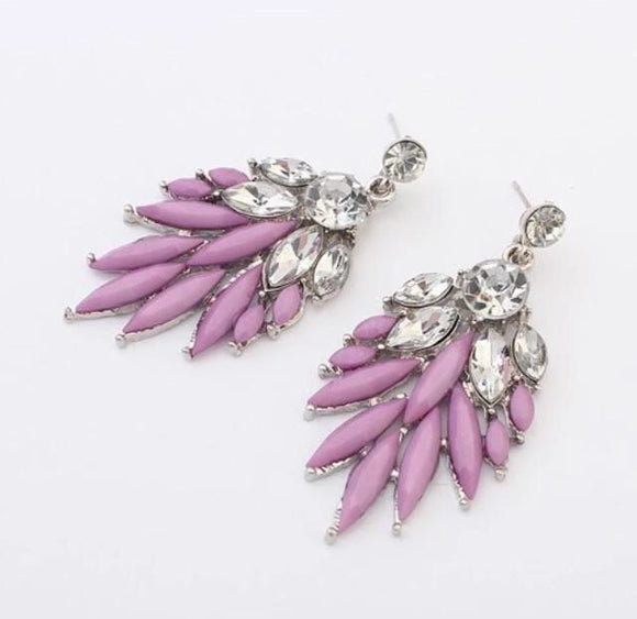 Purple fashion earrings