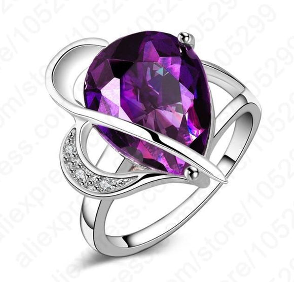 Purple stone ring