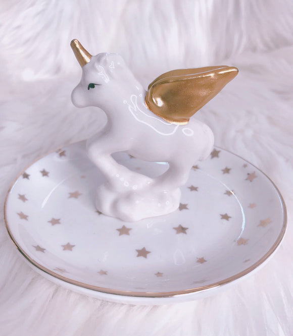 Star unicorn trinket jewelry tray
