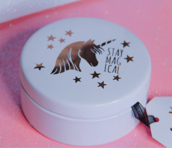 Unicorn decor box jewelry dish