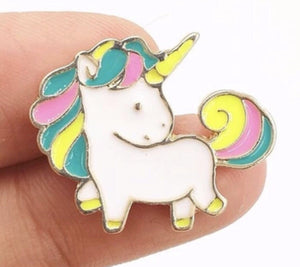 Unicorn rainbow pastel hair pin