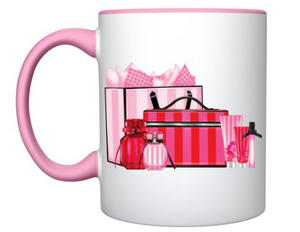 VS goodies pink and red mug