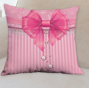 Pink Bow Pillow