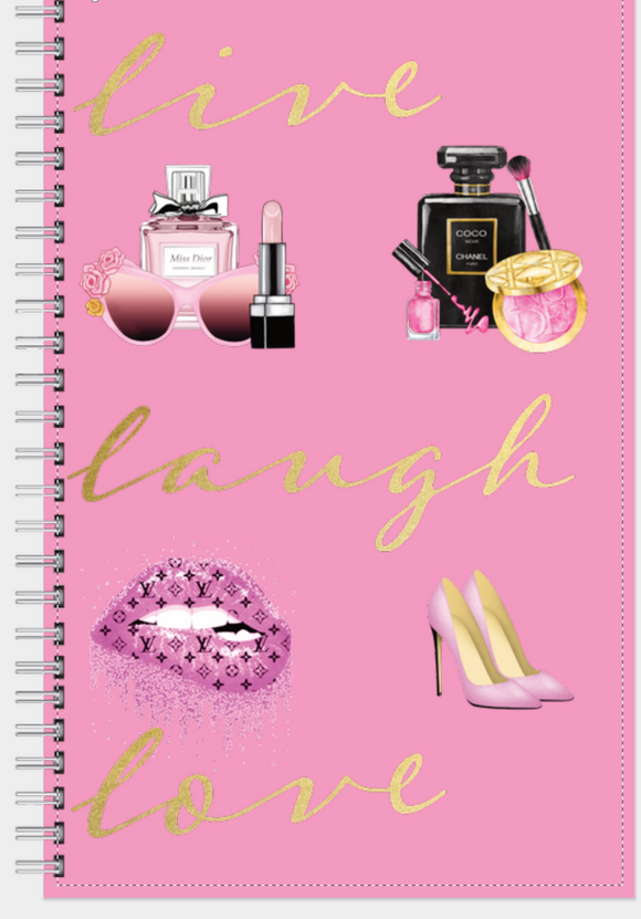 Live Laugh Love makeup notebook