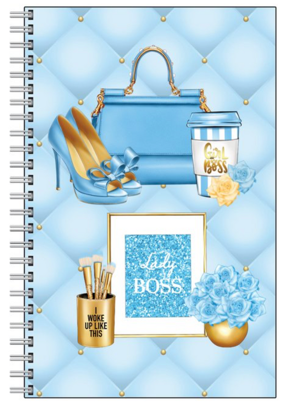Boss Lady in Blue notebook