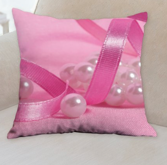 Pearl bow pillow