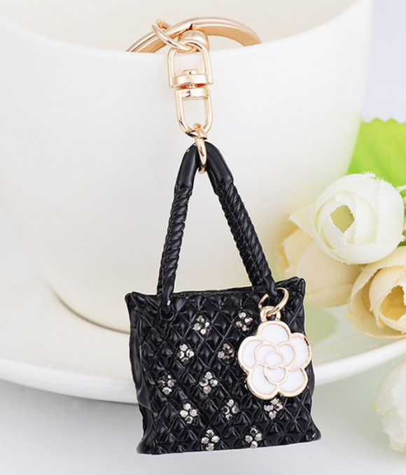 Flower purse keychain