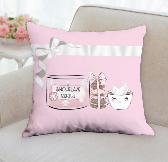 Snowfake Kisses Pillow