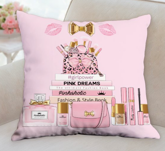 Pink Glam Room Pillow