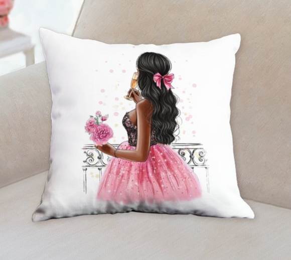 Paris Lady Pillow in White