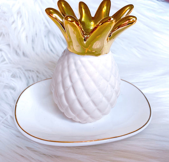 Pineapple jewelry dish trinket tray