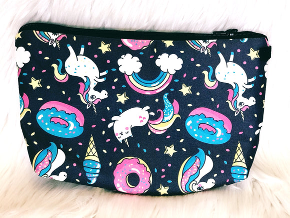Black Unicorn Sweets makeup bag