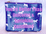 Unicorns and Sprinkles makeup bag