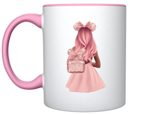 Inspired Disney pink girl mug