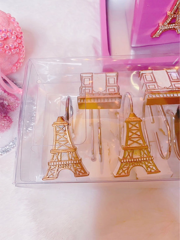 Heaven in Paris Shower Curtain Hooks set of 12