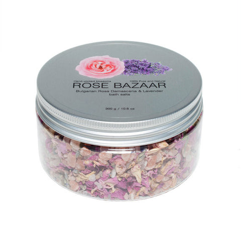 Bath Salts with Rose and Lavender essential oils