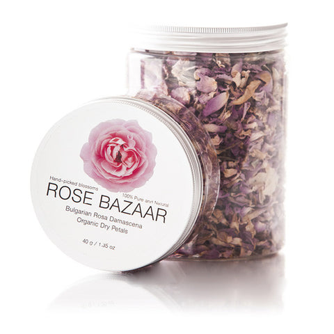 Rosa Damascena Dried Blossoms - Organic