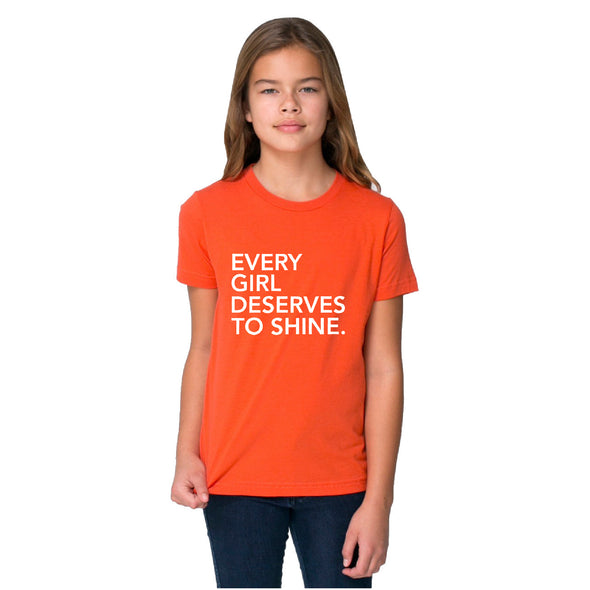 EVERY GIRL DESERVES TO SHINE CAMISETA DE LOS NIÑOS