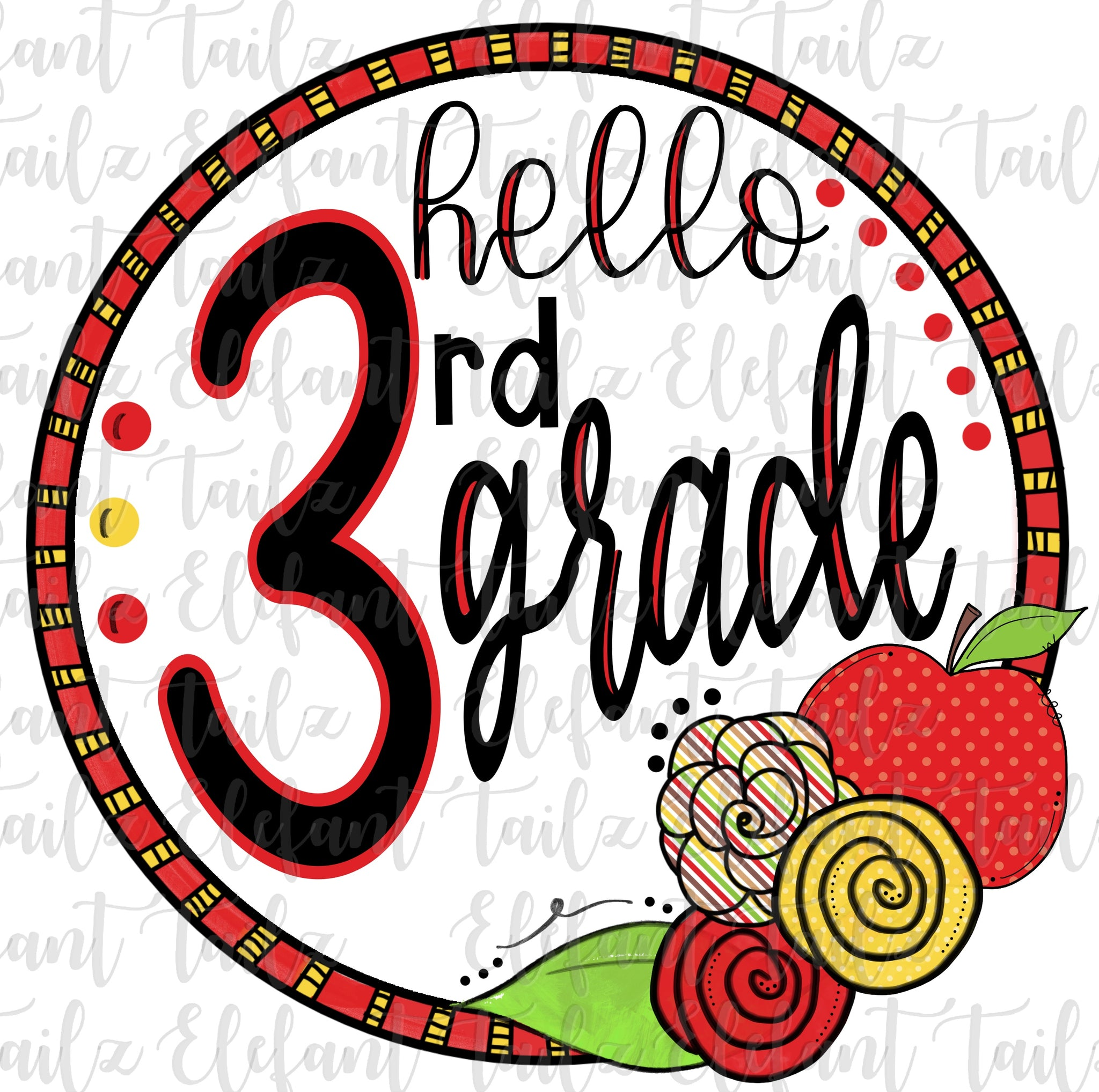 Apple Circle Hello 3rd Grade
