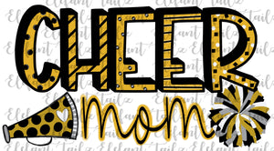 Cheer Mom Gold & Black