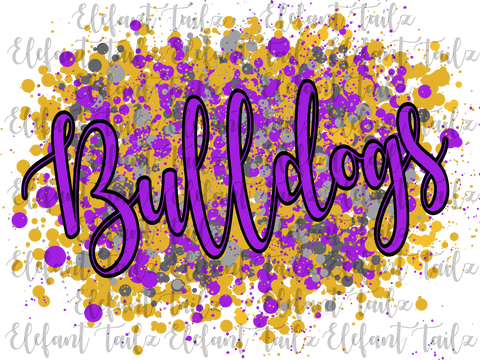 Purple & Gold Bulldogs Spirit Splatter