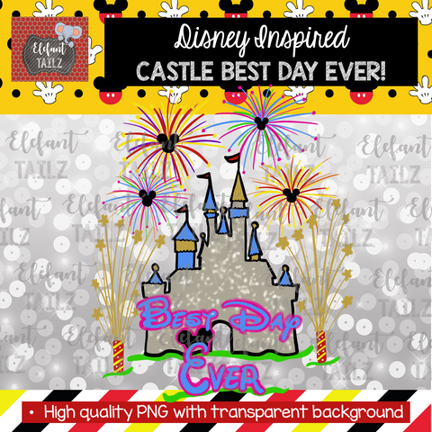 Castle and Fireworks Best Day Ever