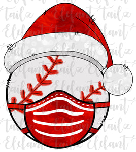 Christmas Santa Hat Baseball With Face Mask