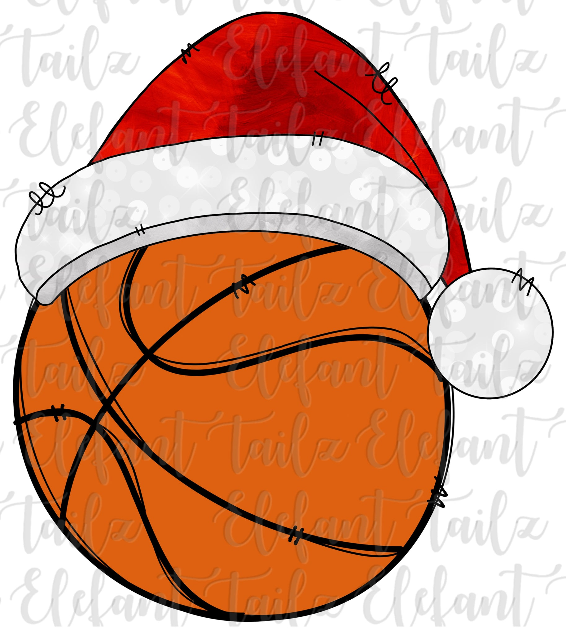 Christmas Santa Hat Basketball