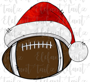Christmas Santa Hat Football