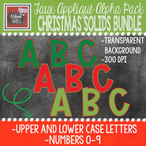 Alpha & Number Pack - Christmas Solids BUNDLE