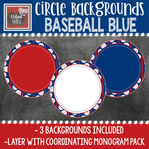 Baseball Blue Circle Backgrounds