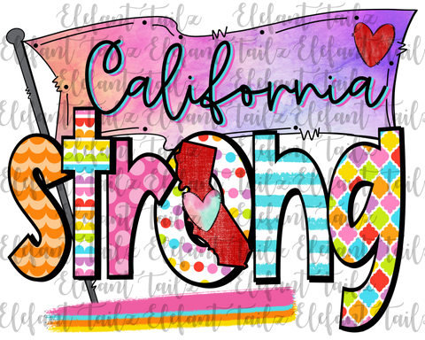 Colorful California Strong