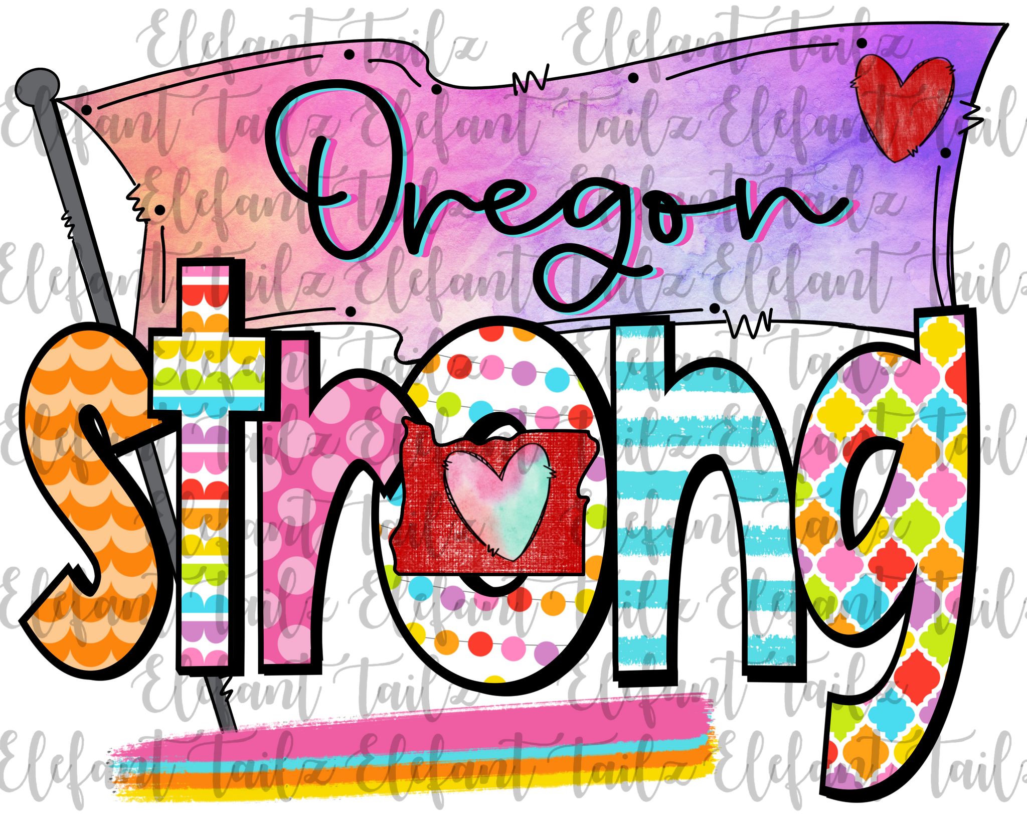Colorful Oregon Strong