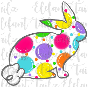 Colorful Polka Dot Bunny