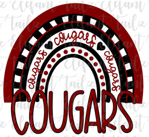 Cougars Rainbow Crimson & Black