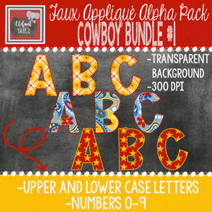 Alpha & Number Pack - Cowboy BUNDLE #1