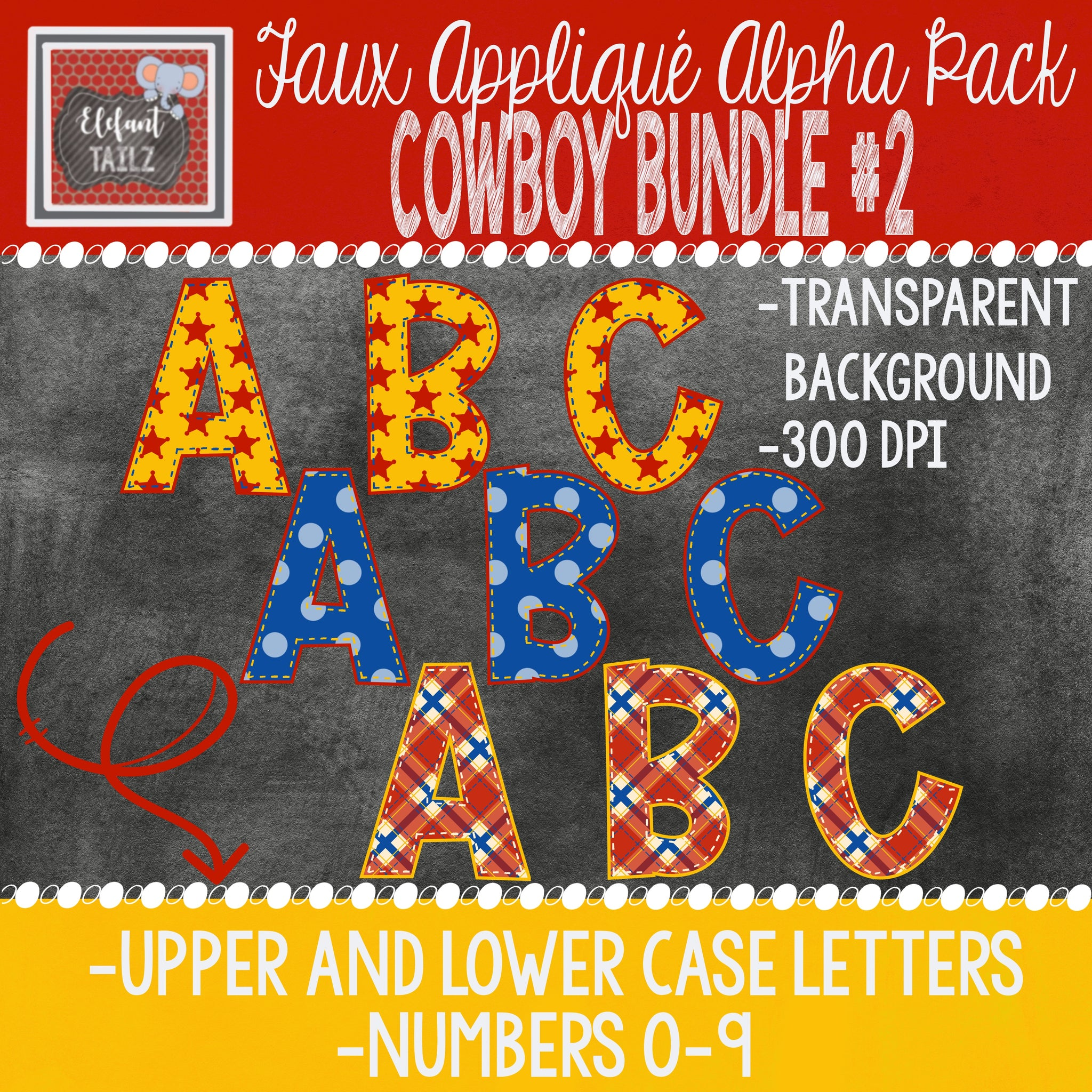 Alpha & Number Pack - Cowboy BUNDLE #2