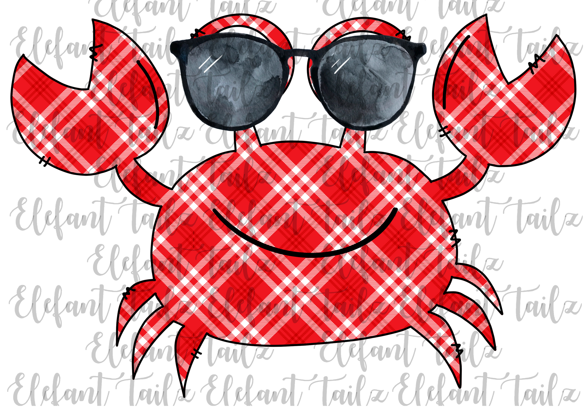 Crab with Sunglasses Red