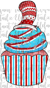 Cupcake Crazy Hat Stripes
