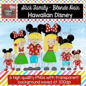 Disney Hawaiian Family - Blonde Hair