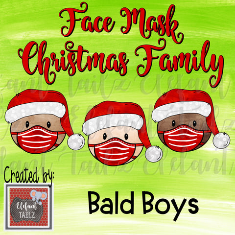 Face Mask Christmas Family - Bald Boys