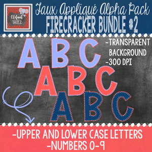 Alpha & Number Pack - Firecracker BUNDLE #2