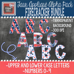 Alpha & Number Pack - Firecracker BUNDLE #1