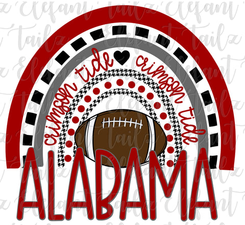 Football Alabama Crimson Tide Rainbow