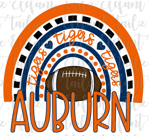 Football Auburn Tigers Rainbow