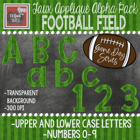 Game Day Series Alpha & Number Pack - Football Field