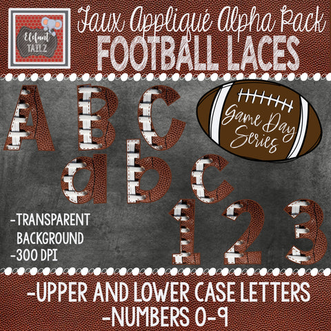 Game Day Series Alpha & Number Pack - Football Laces